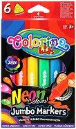 Неонови маркери - Комплект от 6 цвята