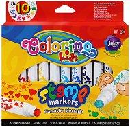 Цветни печати-маркери - Комплект от 10 броя - творчески комплект