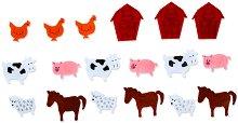 Фигурки от филц - Домашни животни - Комплект от 18 броя
