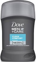 """Dove Men+Care Clean Comfort Anti-Perspirant - Стик дезодорант против изпотяване за мъже от серията """"Men+Care Clean Comfort"""" - сапун"""
