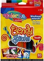Цветни восъчни пръчици за моделиране - Тюленче - Творчески комплект - играчка