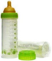 Зелено бебешко шише - Original Nurser 236 ml - Комплект с каучуков биберон размер 1 и 5 броя стерилни пликчета за еднократна употреба -