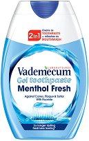 Vademecum 2 in 1 Menthol Fresh - Течна паста за зъби - шампоан
