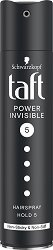 Taft Power Invisible Mega Strong Hairspray - Лак за коса за мега силна фиксация -