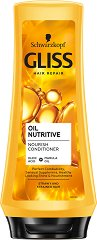 Gliss Oil Nutritive Conditioner - Балсам с подхранващи масла за цъфтяща коса -