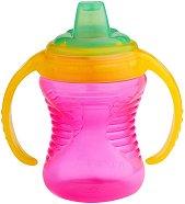Розова неразливаща се преходна чаша с дръжки - 237 ml - За бебета над 6 месеца - продукт