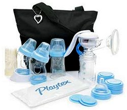 Ръчна помпа за кърма - Deluxe Kit - Комплект с шишета, термочанта и аксесоари -