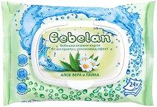 Бебешки мокри кърпички с алое вера и лайка - Опаковки от 24 и 80 броя - сапун