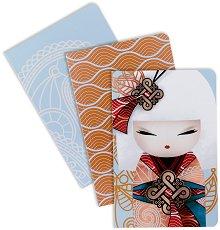 Тефтерчета Namika - Усмивка от съдбата - Комплект от 3 броя формат А5