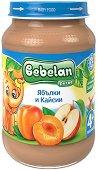 Bebelan Puree - Пюре от ябълки и кайсии - Бурканче от 190 g за бебета над 4 месеца - продукт