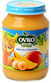 Пюре от манго с банани - Бурканче от 190 g за бебета над 4 месеца - пюре