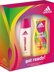 """Дамски комплект - душ гел и парфюм - От серията """"Adidas Women Get Ready"""" -"""