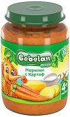 Пюре от картоф и морков - Бурканче от 190 g за бебета над 4 месеца -