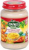 Ovko - Пюре от картофено пюре с пиле и копър - Бурканче от 190 g за бебета над 6 месеца - продукт