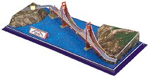 """Мостът """"Голдън Гейт"""", САЩ - 3D пъзел - пъзел"""