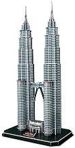 Кулите Петронас, Малайзия - 3D пъзел - пъзел