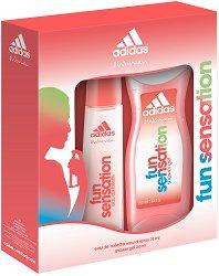"""Дамски комплект - душ гел и парфюм - От серията """"Adidas Women Fun Sensation"""" -"""