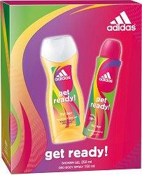 """Дамски комплект - дезодорант и душ гел - От серията """"Adidas Women Get Ready"""" - маска"""