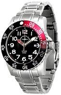 Часовник Zeno-Watch Basel - Black + Red 6350Q-a-7M