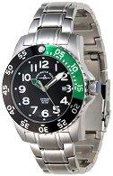 Часовник Zeno-Watch Basel - Black + Green 6350Q-a1-8M