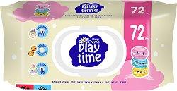 Бебешки мокри кърпички - Play time - Опаковка от 72 броя - крем
