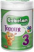 Преходно мляко: Bebelan Lacta 3 - Опаковка от 400 g за бебета от 1 до 3 години - биберон