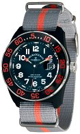 Часовник Zeno-Watch Basel - H3 Teflon - Black/Orange - Nylon 6594Q-a15-Nato-35