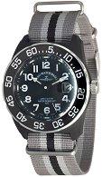 Часовник Zeno-Watch Basel - H3 Teflon - Black/Gray - Nylon 6594Q-a1-Nato-31