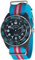 Часовник Zeno-Watch Basel - H3 Teflon - Black/Blue - Nylon 6594Q-a14-Nato-47