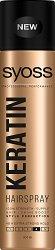 """Syoss Keratin Style Perfection Hairspray - Лак за коса с течен кератин и дълготрайна фиксация от серията """"Keratin"""" - фон дьо тен"""