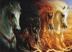 Четирите коня на Апокалипсиса - Шарлийн Линдског-Осорио (Sharlene Lindskog-Osorio) - пъзел