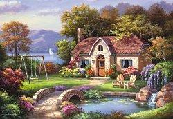 Къща с каменен мост - пъзел