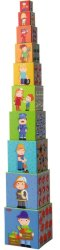 Фигури за нареждане в пирамида - Детска образователна играчка -
