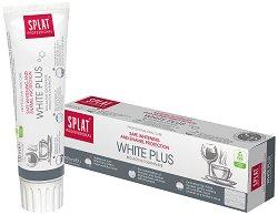 """Splat Professional White Plus Toothpaste - Избелваща паста за зъби от серията """"Professional"""" - маска"""