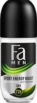 Fa Men Xtreme Sport Energy Boost Anti-Perspirant Roll-On - Ролон дезодорант против изпотяване за мъже - дезодорант