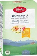 Topfer - Био инстантна млечна каша с пълнозърнест овес, ябълка и ванилия - Опаковка от 200 g за бебета над 6 месеца - продукт