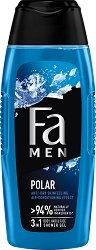 "Fa Men Xtreme Polar Body & Hair Shower Gel - Душ гел за мъже от серията ""Fa Men Xtreme"" - ролон"