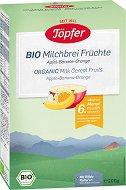 Topfer - Био инстантна млечна каша с ябълка, банан и портокал -