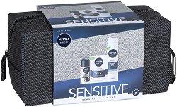 Подаръчен комплект за мъже с несесер - Nivea Men Sensitive Care - продукт