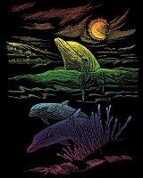 Създай сам цветна гравюра - Делфини - играчка