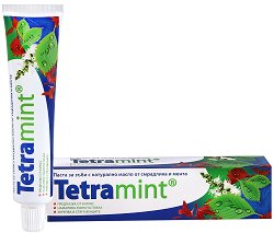 Паста за зъби - Tetramint - С цялостна грижа за устната кухина - продукт
