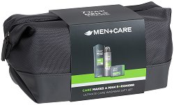 Подаръчен комплект за мъже с несесер - Dove Extra Fresh - Душ гел, крем сапун и дезодорант -