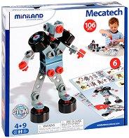 Роботи, коли и машини - 6 в 1 - Детски конструктор - несесер