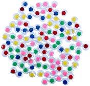 Цветни мърдащи се очички - Комплект от 100 броя