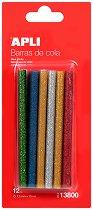 Цветни силиконови пръчки с брокат - Консуматив за пистолет за топло лепене - продукт
