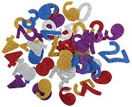 Цветни фигурки с брокат от EVA пяна - Цифри