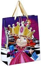 Торбичка за подарък - Принцеса - С карнавална коронка - детски аксесоар