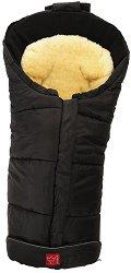 Бебешко термо-чувалче с подложка от овча кожа - Sheepy: Black - Аксесоар за детска количка - продукт