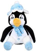 Пингвин с шапка на снежинки - Плюшена играчка - играчка