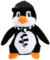 Пингвин с шапка и шал - Плюшена играчка - играчка